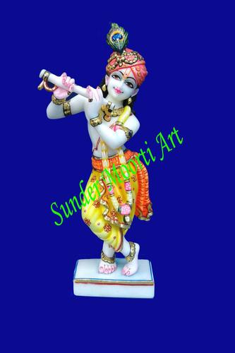 Sunder Moorti Marble Krishna Statue