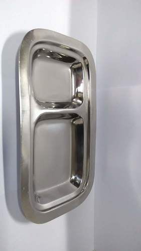 Stainless Steel Single Compartment Plate