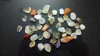 Multi color Semi Precious Stone tumbled polished Chips and aggregate