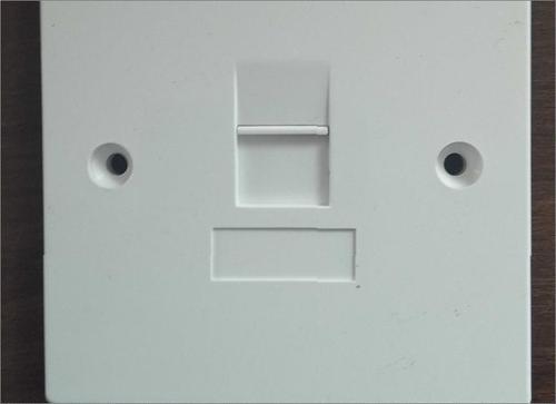 Shuttered Flat Face Plate-Single