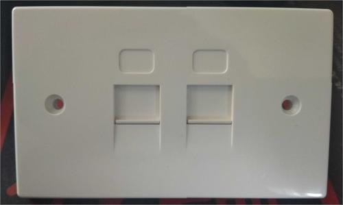 Shuttered American Style Flat Face Plate-Dual