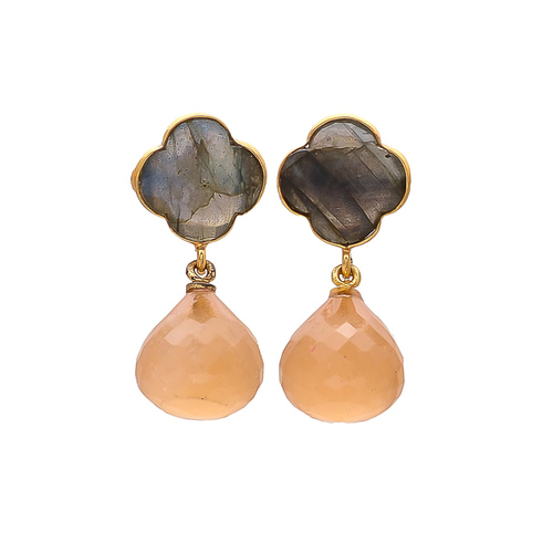 Labradorite & Peach Chalcedony