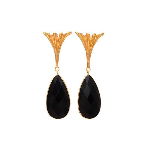 Black Onyx Gemstone Earrings