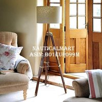 Vintage Designer Tripod Floor Lamp Nautical Floor Lamp Home Decor Shade lamp