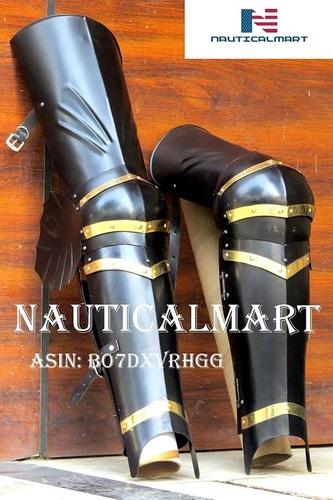 NauticalMart Medieval Steel Knight Leg Armor