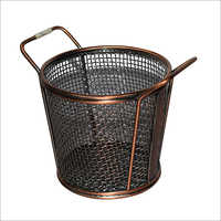 Mini Serving Tapered Double Handle Basket