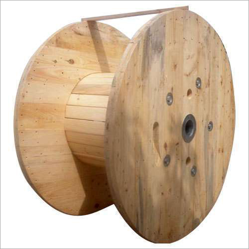 Wooden Running Empty Cable Drum