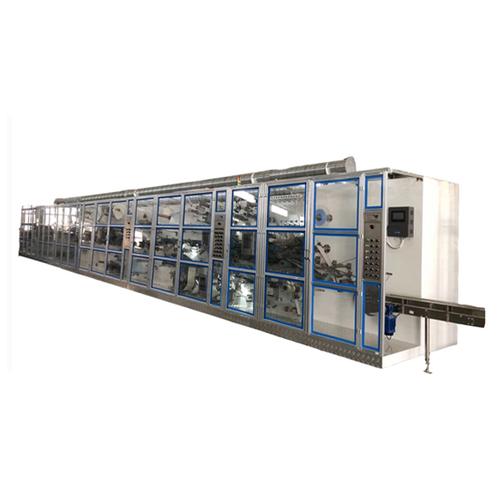 Quanzhou hot sale semi-servo full automatic sanitary napkin production line