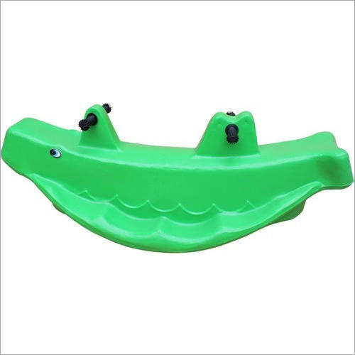 Kids Plastic 3 Seater Whale Ride On Toy