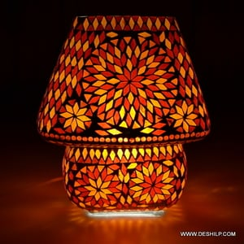 Wall Mosaic Table Lamp