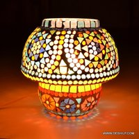 SMALL MOSAIC HANDMADE GLASS TABLE LAMP