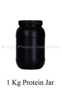 Black Round 1 Kg Protein Jar