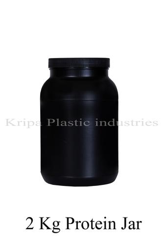 Black Round 2 Kg Protein Jar