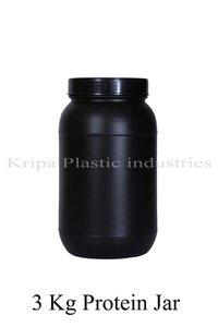 Black 3 Kg Protein Jar
