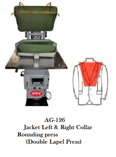 jacket left &right collar rounding press (Double Lapel press)
