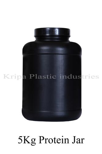 Black Round 5 Kg Protein Jar