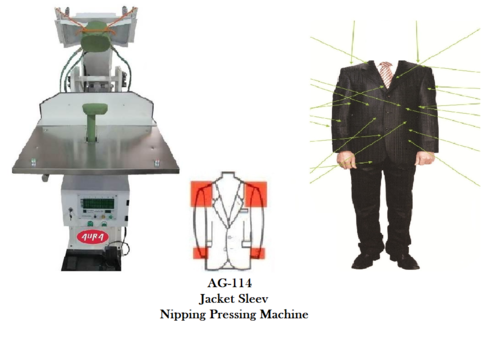 Jacket Sleeve Nipping Pressing Machine