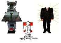 jacket sleeve nipping pressing machine