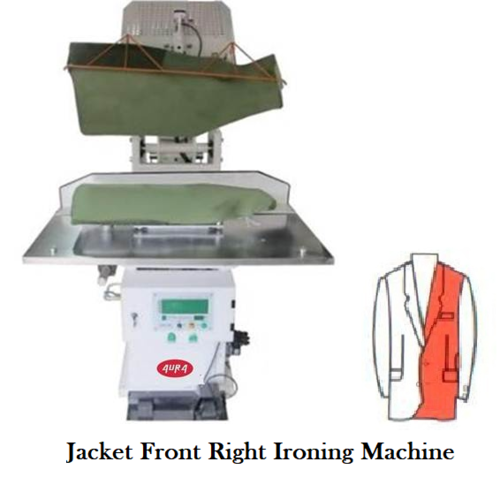Jacket front right ironing Machine