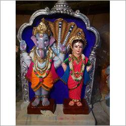 Clay Laxmi Ganesh Statue
