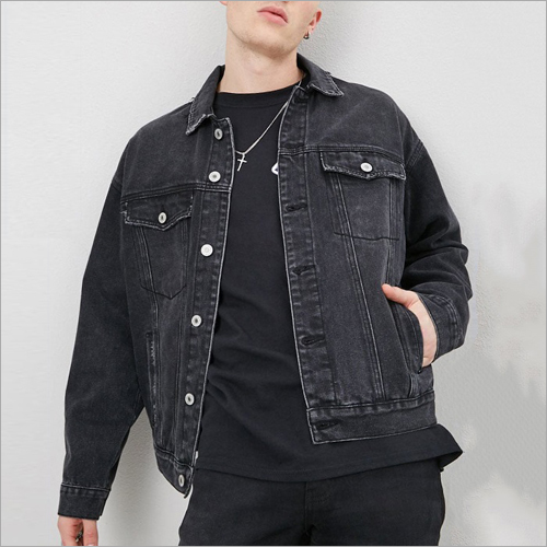 Mens Black Denim Jacket