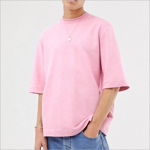 Mens Short Sleeve Pink T-Shirt