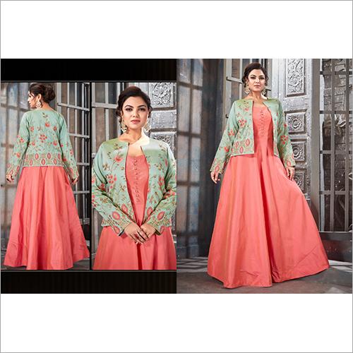 Ladies Designer Jacket Gown