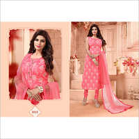 Ladies Pink Designer Straight Suit