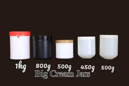 Plastic Big Cream Jars