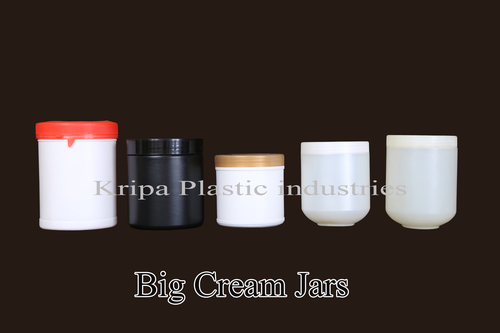 Plastic Big Cream Jars
