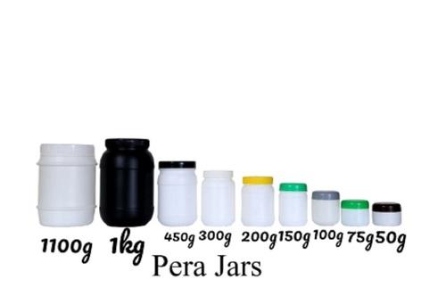White Round Pera Jars