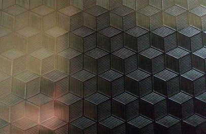 3D Cubes Embossed Sheets
