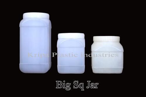 White Big Square Jars