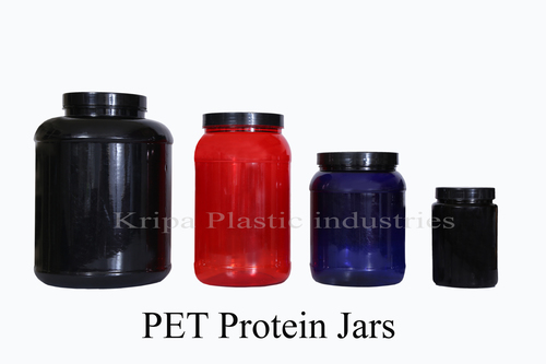 Transparent Round PET Protein Jars
