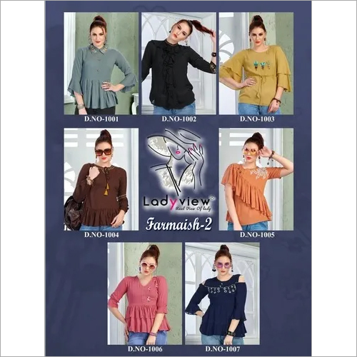 Designer Latest Stylish Woman Embroidered Top