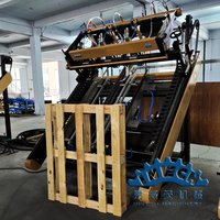 Semi-auto Blocks Wood Pallet Nailing Line