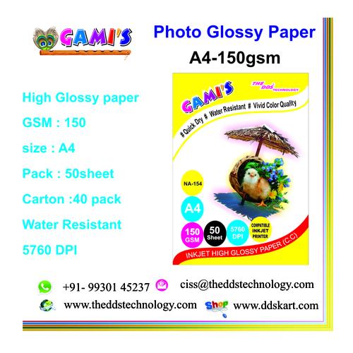 A4 150 GSM inkjet photopaper