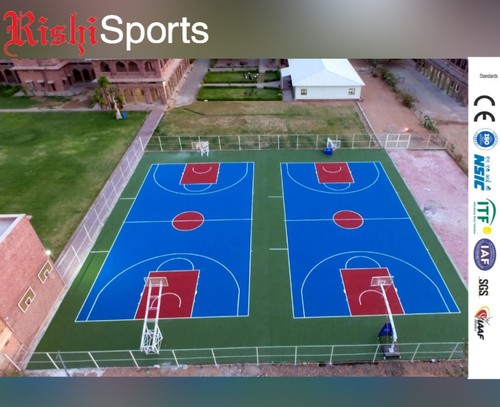 Indoor and Outdoor Basketball Court
