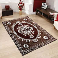 Chenille Brown Printed Carpet