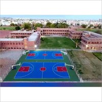 rubber pu basketball court