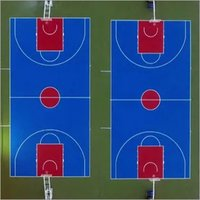 portable basketball court