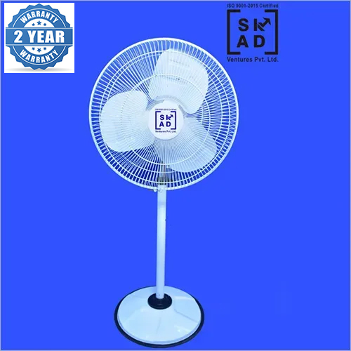 Gold Pedestal Fan-White