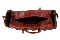 Handmade Genuine Vintage Leather Large Travelling Duffel Weekend Bag