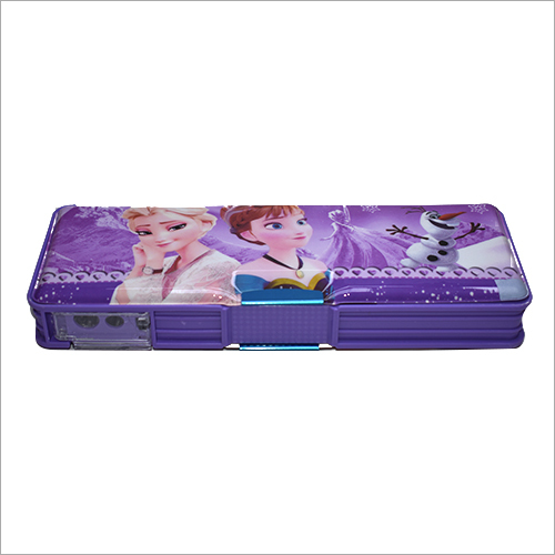 Girls Metal Pencil Box With LED Light