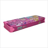 Barbie Pencil Box With LED Light Dual Sharpener
