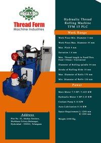 PLC Thread Rolling Machine