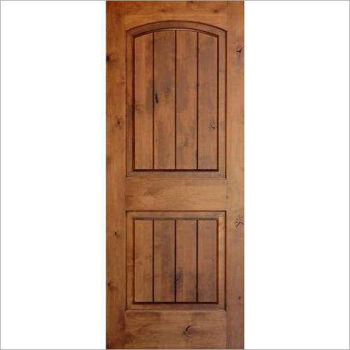 Brown Pine Wood Door