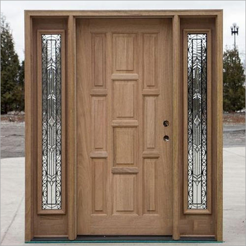 Decorative Pine Wood Door
