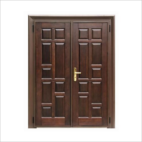 Modern Teak Wood Double Door