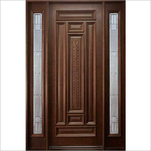 Brown Wooden Panel Door